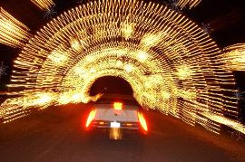 Vehicle Drives through Winter Wonderland Tunnel photo credit: CJonline