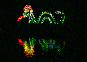 TARC's Winter Wonderland Dragon or Serpent on the Water at Lake Shawnee Topeka Kansas
