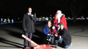 2016 TARC Winter Wonderland Opening Night Matt Miller KSNT News, Santa Claus and Family turned on the lights on air live Topeka TARC Lake Shawnee Camp Ground