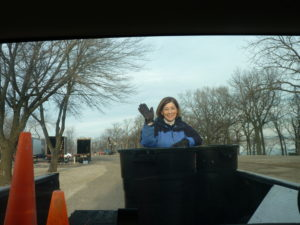 Sherry Lundry, TARC Development Director at Winter Wonderland Set up Topeka Kansas TARC